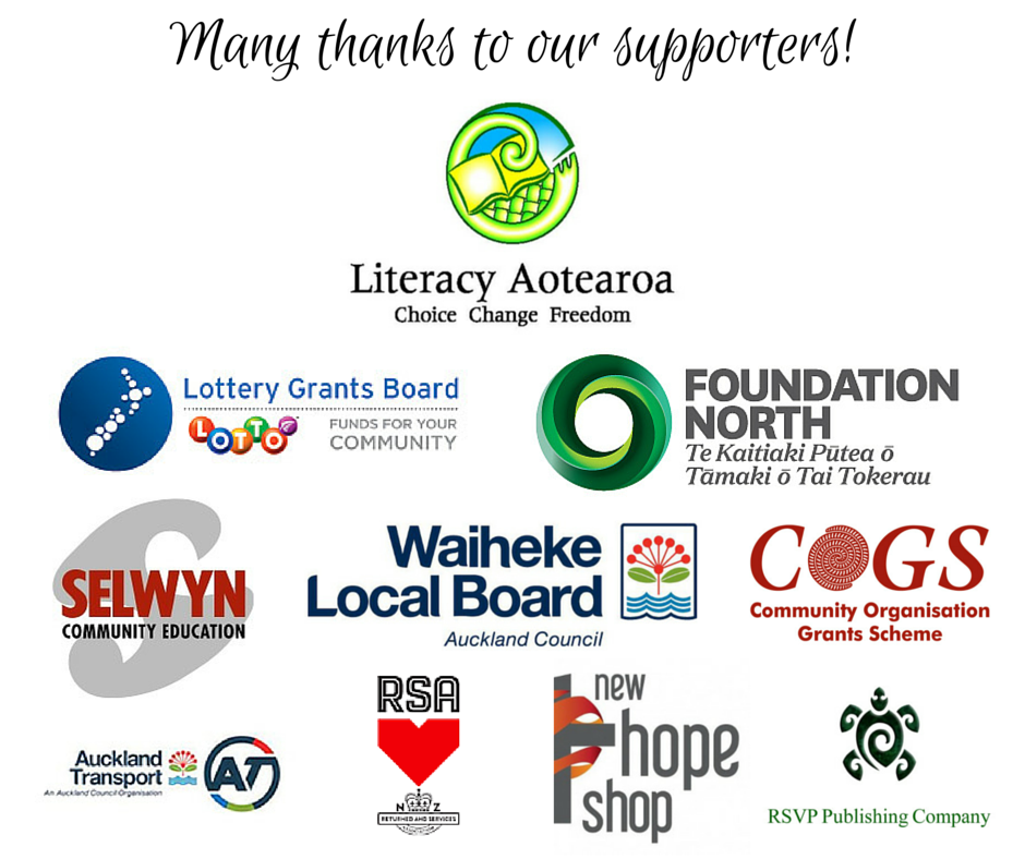 Many thanks to our supporters Oct 2015